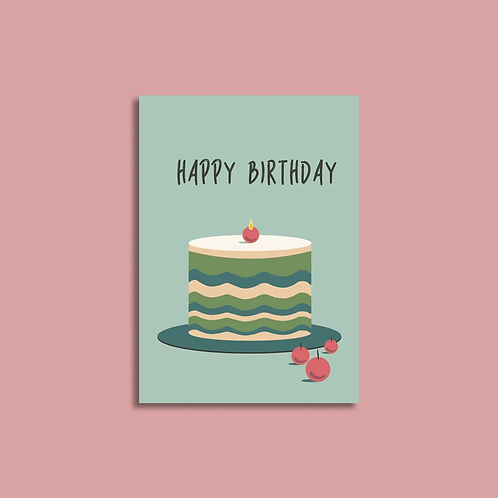 EJ Memento | Cards | Happy Birthday with Cherry Candle