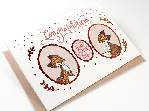 Whimsy Whimsical | Greeting Card | Congratulations, New Little One