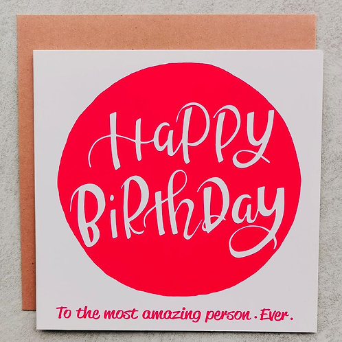 Emma5 Artisan | Greeting Cards | Birthday Amazing Person