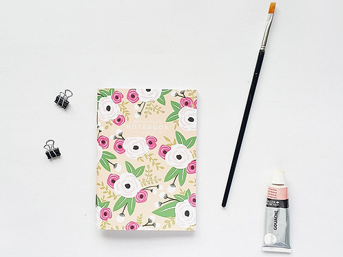Pebble Paper Design | Notebook | White Floral