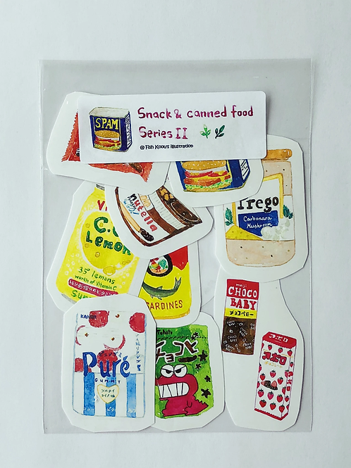 Fish Koou | Stickers | Snack & Canned Food Series II