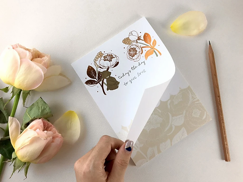 Whimsy Whimsical | Notepad | Today's the Day | Bear & David Austin Rose