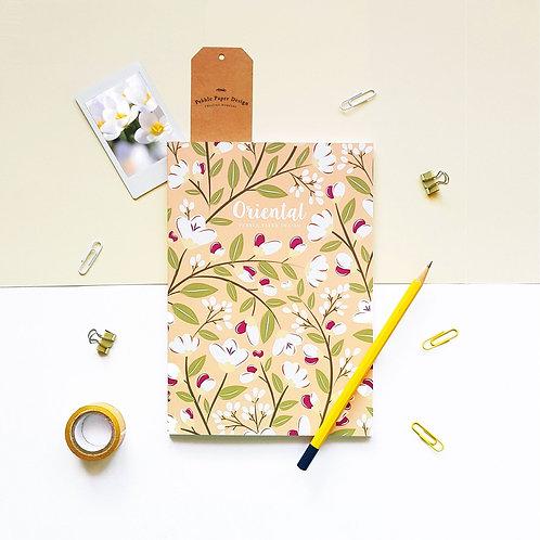 Pebble Paper Design   Notebook   Oriental Series   Tiger Lilies