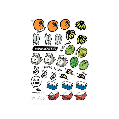 Nia Latif x FS | Interactive Stickers | Market Scene