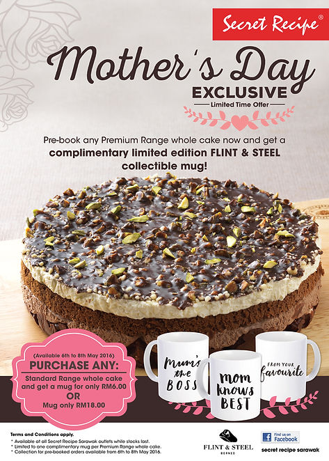 MOTHER'S DAY EXCLUSIVE OFFER by Secret Recipe Sarawak