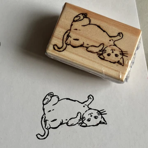 Stickerrific | Stamp | Rub My Belly Cat