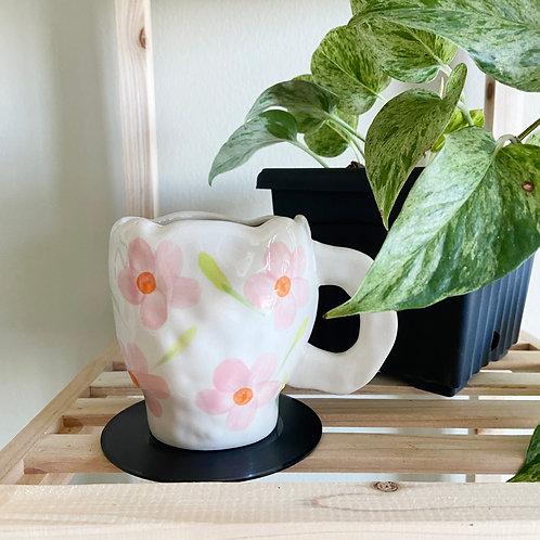 Nordic Pink Floral Mugs