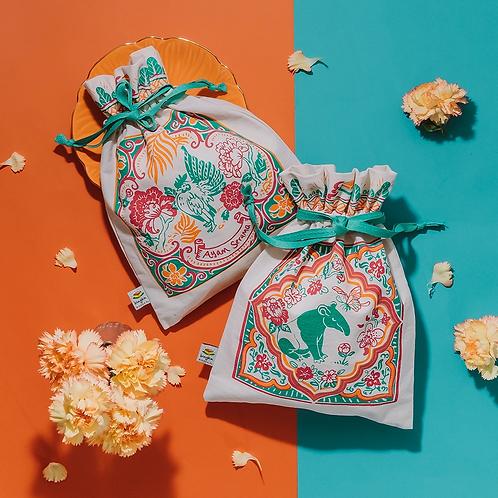 Bingka | Drawstring Bag | Peranakan Tiles (L)