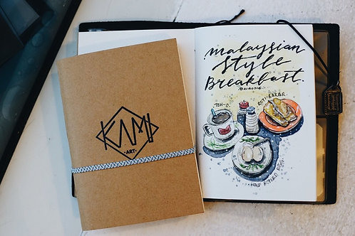 KAMI Art & Design | Passport Size Watercolor Sketchbook
