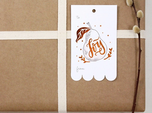 Whimsy Whimsical   Gift Tags   Pear   Joy