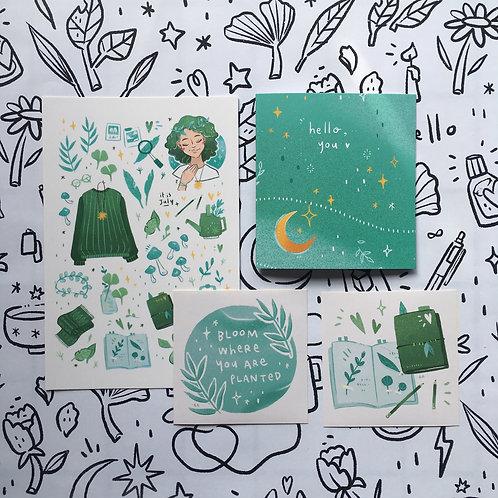 Azreenchan | Postcard Pack | July