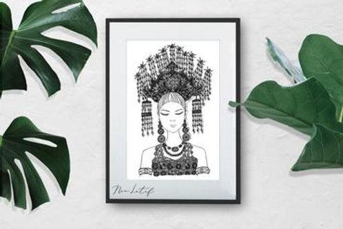 Nia Latif | Art Print | Sugu Tinggi