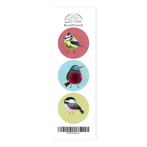 Heart Art Stickers   Birdies