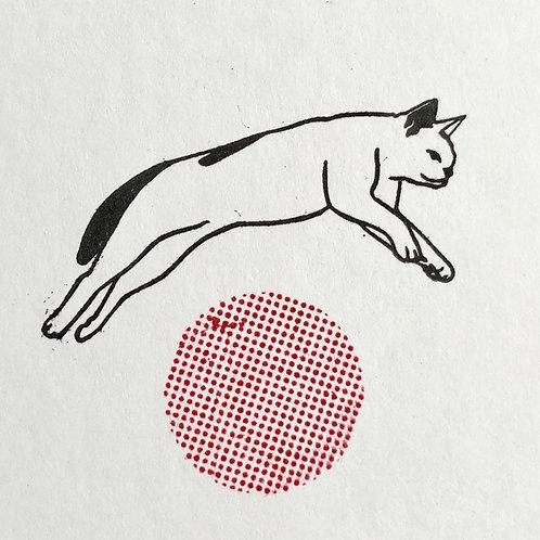 Stickerrific | Stamp | Jumping Cat