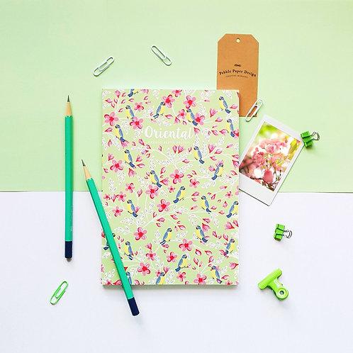 Pebble Paper Design | Notebook | Oriental Series | Cherry Birds