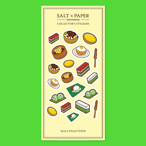 Salt x Paper | Collectors' Stickers | Malaysian Food