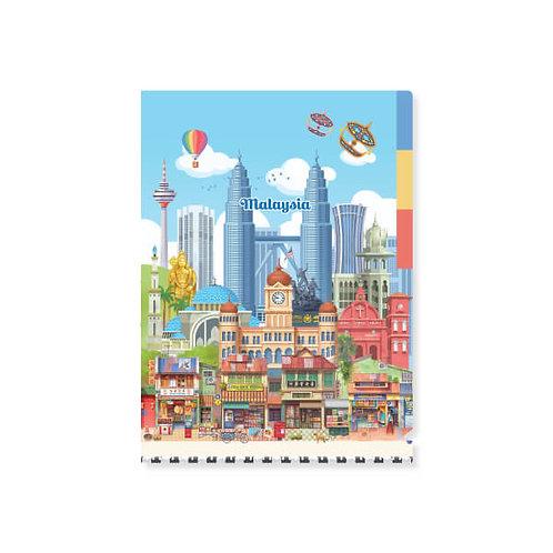 Loka Made | A5 L'Shape Folder | FDS05 Colourful Malaysia