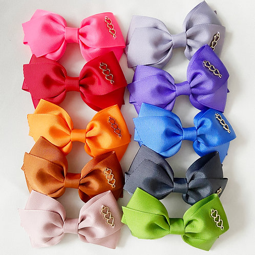 Triplets Trilogy Bow | Classic Bow Clips | S