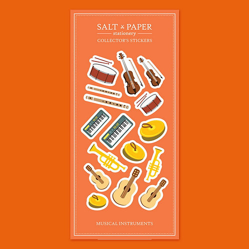 Salt x Paper | Collectors' Stickers | Musical Instruments