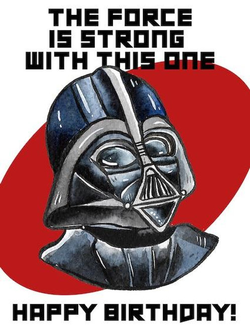 Stickerrific  | Postcard | Happy Birthday Darth Vader