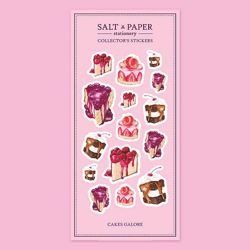 Salt x Paper   Collectors' Stickers   Cakes Galore