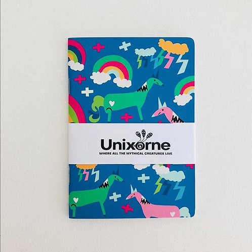 Unixorne | Notebook | A6 | Blue