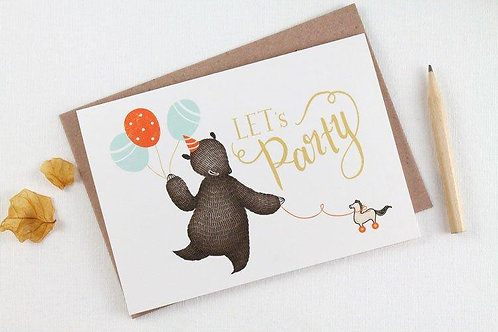 Whimsy Whimsical | Greeting Card | Let's Party