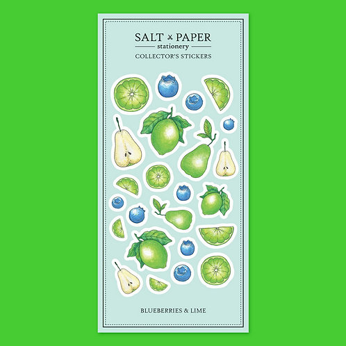 Salt x Paper | Collectors' Stickers | Blueberries, Pears & Lime