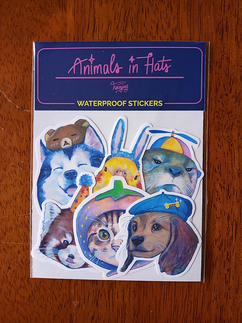 Hsieying | Stickers | Animals in Hats