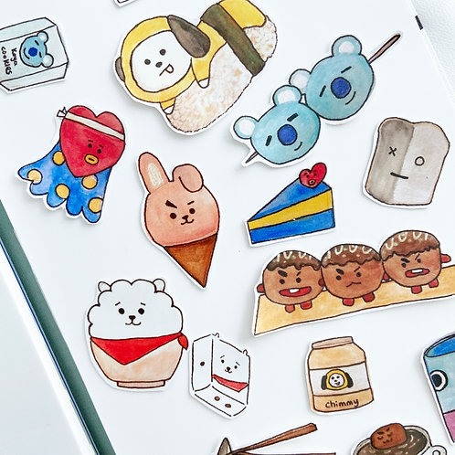 Art by Lee | Sticker | Bt21