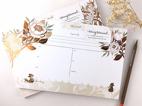 Whimsy Whimsical |  Weekly Desk Planner