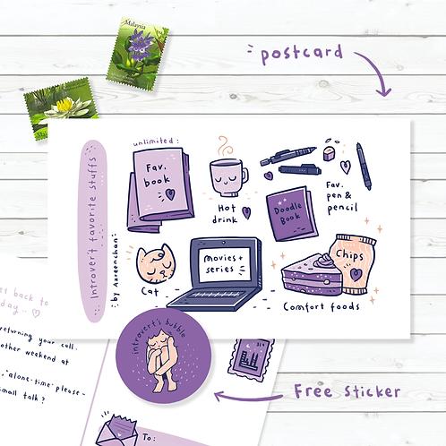 Azreenchan | Postcard | Introvert