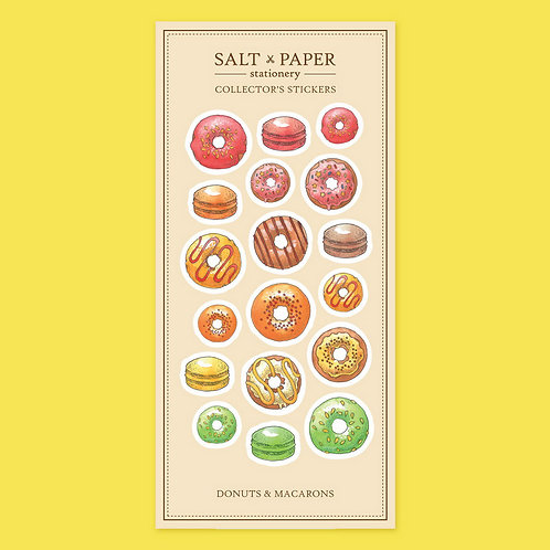 Salt x Paper | Collectors' Stickers | Donuts & Macarons