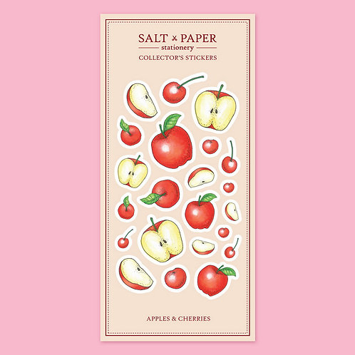 Salt x Paper | Collectors' Stickers | Apples & Cherries