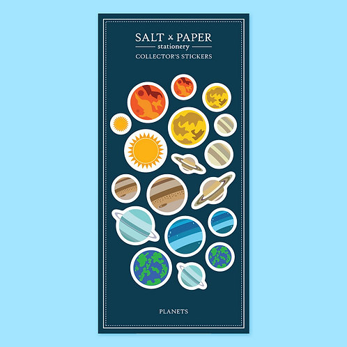 Salt x Paper | Collectors' Stickers | Planets