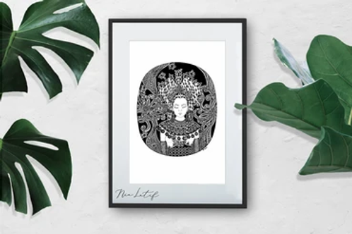 Nia Latif | Art Print | Iban Dancer