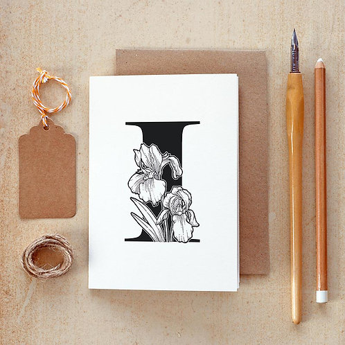 Salt x Paper | Greeting Card | The Alphabet Blossom Series | I