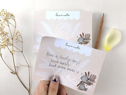 Whimsy Whimsical | Memo Pad | Rabbit & King Protea
