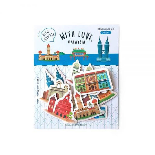 Loka Made | Deco Sticker | DS02 With love, Malaysia