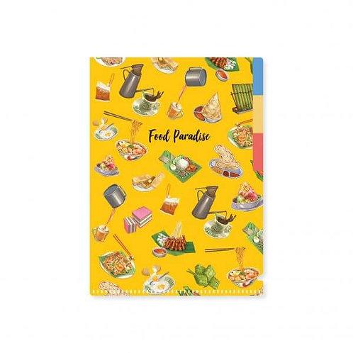 Loka Made | A5 L'Shape Folder | FDS01 Food Paradise Makanan