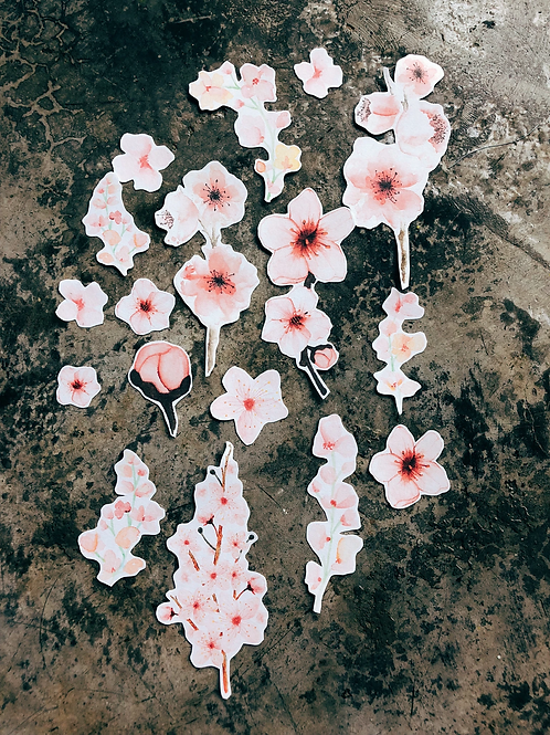 My Paper Projects | Stickers | Transparent Cherry Blossom