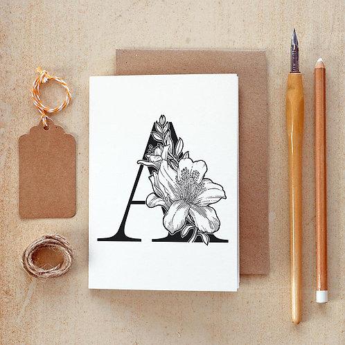 Salt x Paper | Greeting Card | The Alphabet Blossom Series | A