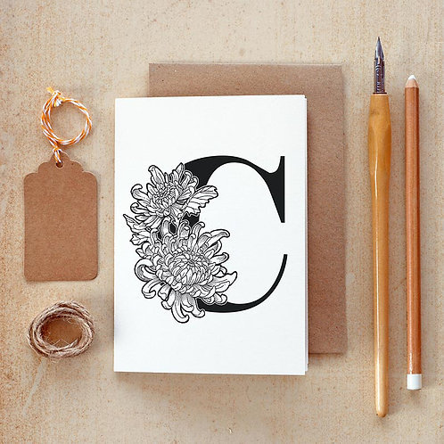 Salt x Paper | Greeting Card | The Alphabet Blossom Series | C