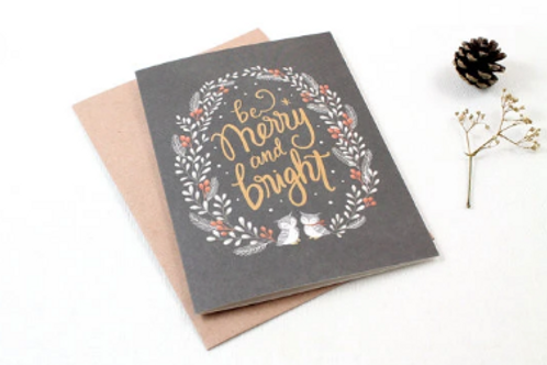 Whimsy Whimsical | Greeting Card | Be Merry & Bright