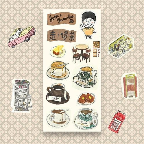 Jacktus | Kopitiam Sticker Set | Jom Yumcha
