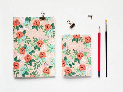 Pebble Paper Design | Notebook | Red Rose