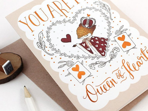 Whimsy Whimsical   Greeting Card   You Are My Queen of Heart