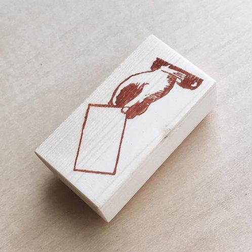 Stickerrific | Stamp | Hand Holding Envelope