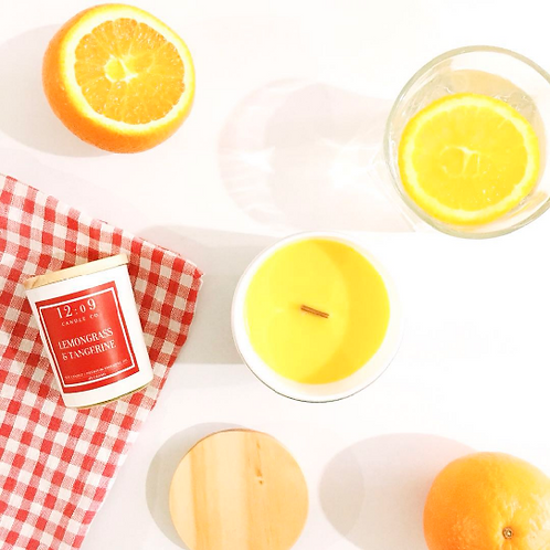 12:o9 Candle Co. | Scented Candle | Lemongrass & Tangerine
