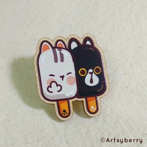 Artsyberry | Wooden Pin | Pawsicle